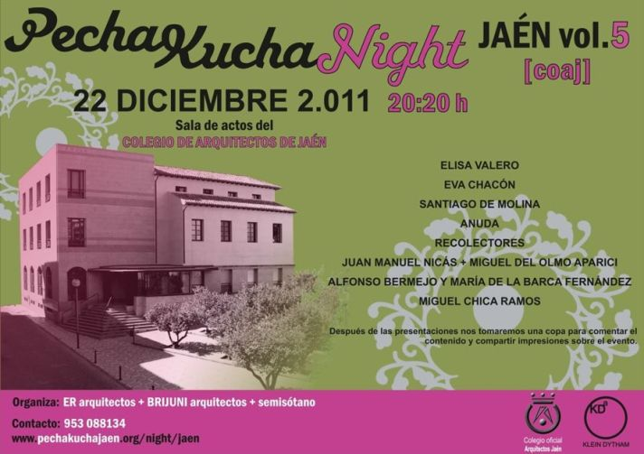 Cartel PechaKucha Jaen
